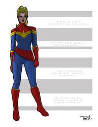 Captain Marvel by tsbranch
