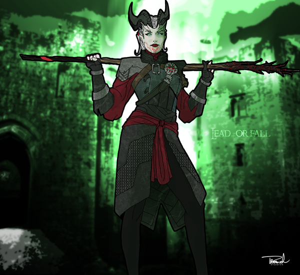 Dragon Age: Inquisition-Female Qunari Mage by tsbranch on ...