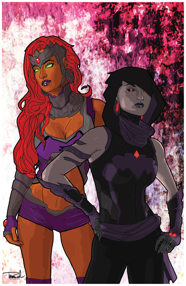 Starfire and Raven by tsbranch