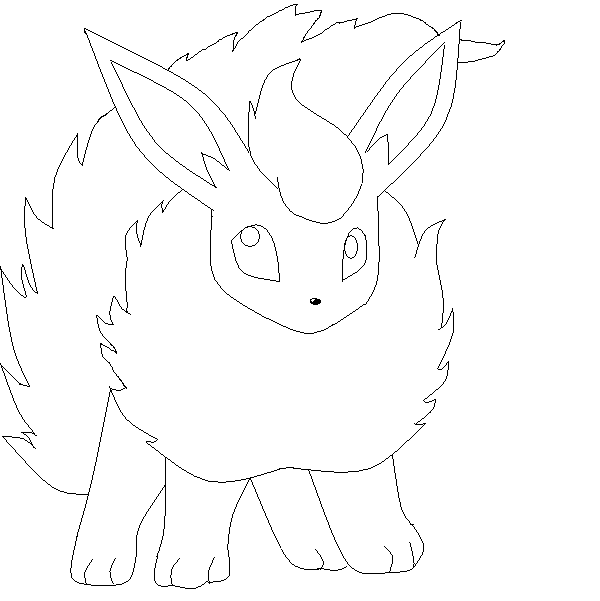 Flareon base by glacebase on deviantart for Flareon coloring page