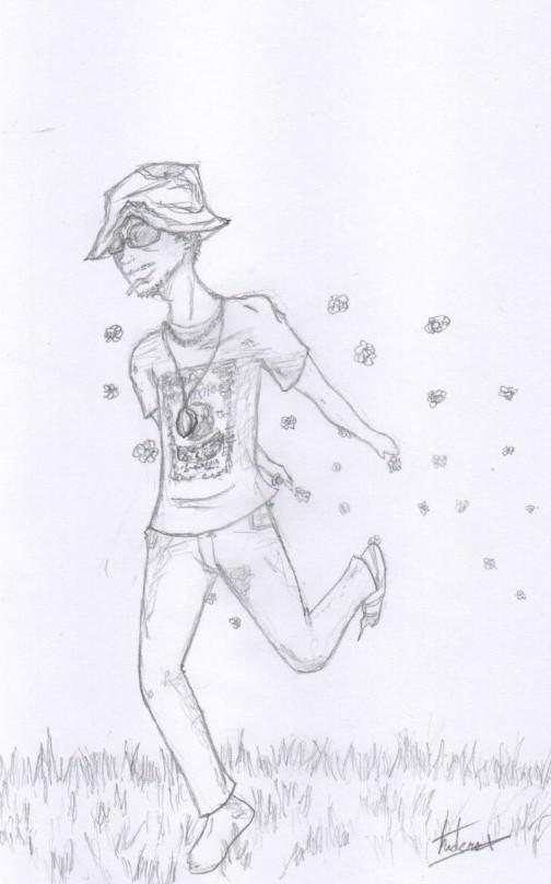 Le Hippie danse avec les fleurs by andersss