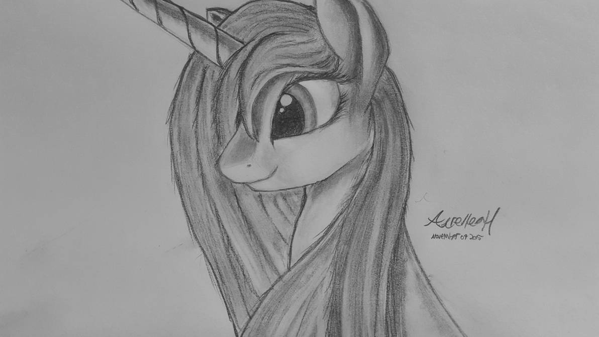 Luna (Week Three of Learning to Draw) V2 by AurelleahFreefeather