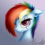 Alternate Future Rainbow Dash (Commission)