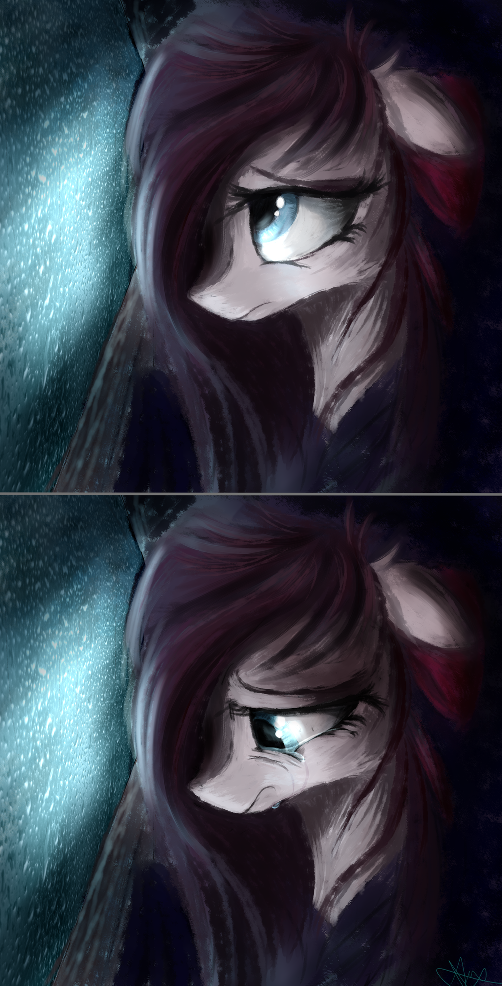 Sometimes I just feel.... tired, ya know? by AurelleahFreefeather