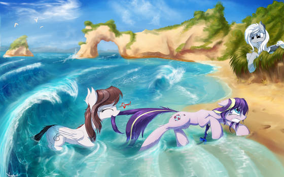 'Oh come on, the water isn't THAT bad!!' by AurelleahFreefeather