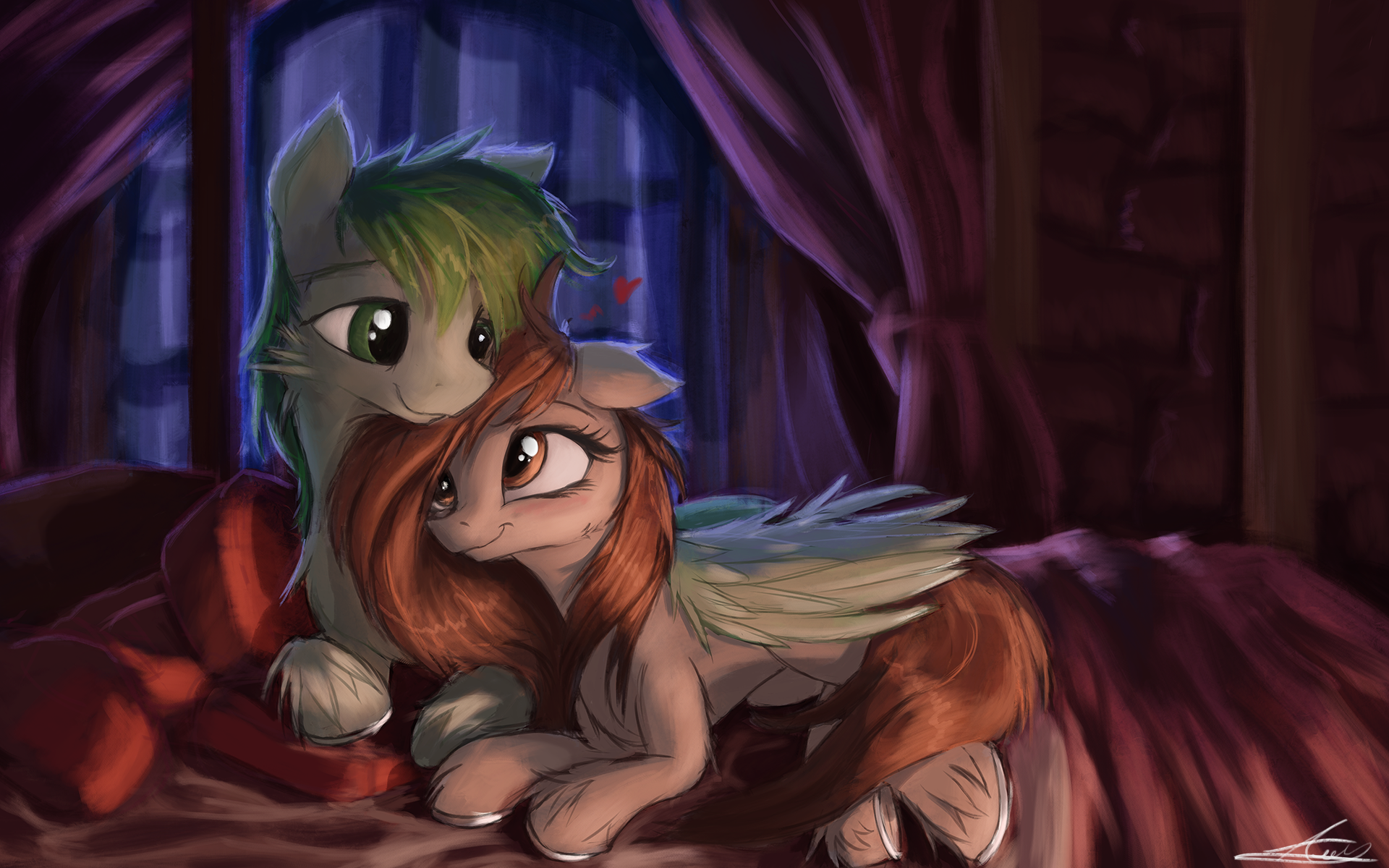 Wing Hugs and Hors Snugs [Commission] by AurelleahFreefeather