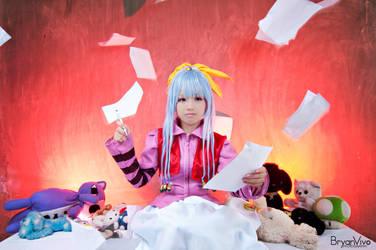 Writing the future (Neon) by katsu-05