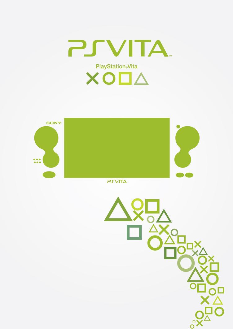 Playstation Vita Poster - Green by patrickzachar