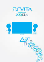 Playstation Vita Poster - Blue by patrickzachar