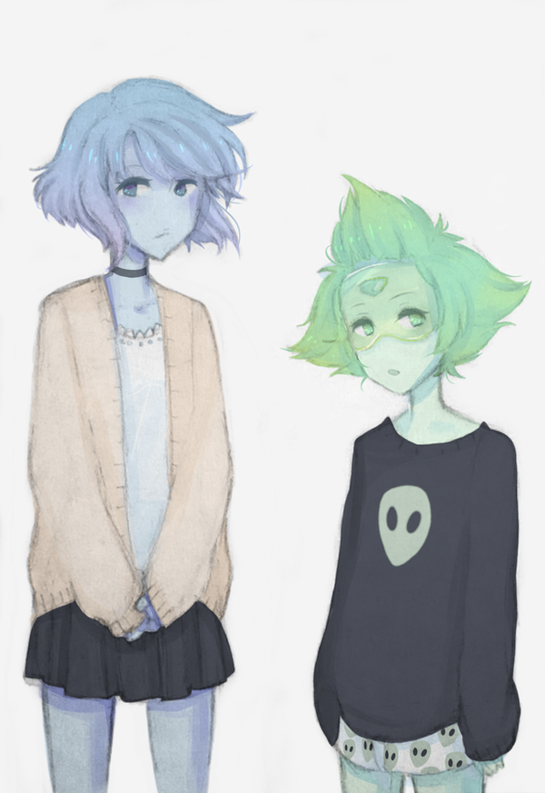 Lapis and Peridot belong to Rebecca Sugar