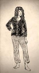 Black flannel girl