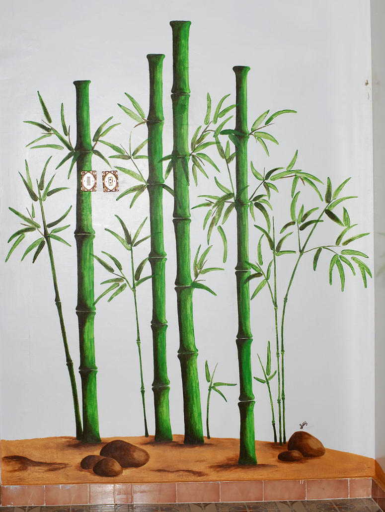 Bamboo wall painting by al abbasi on deviantart for Bamboo mural walls