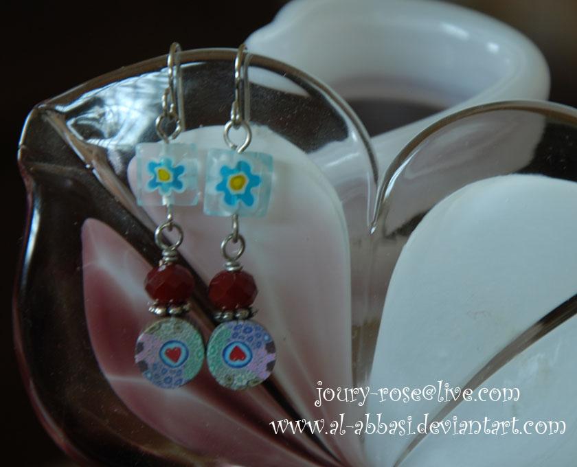 Heart Flower Earring by Al-Abbasi