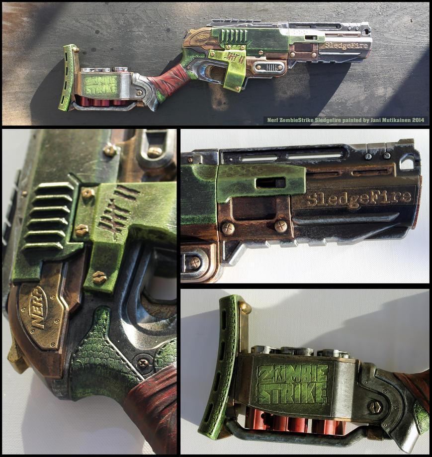 Hasbro Nerf Zombie Strike Sledgefire Blaster ...