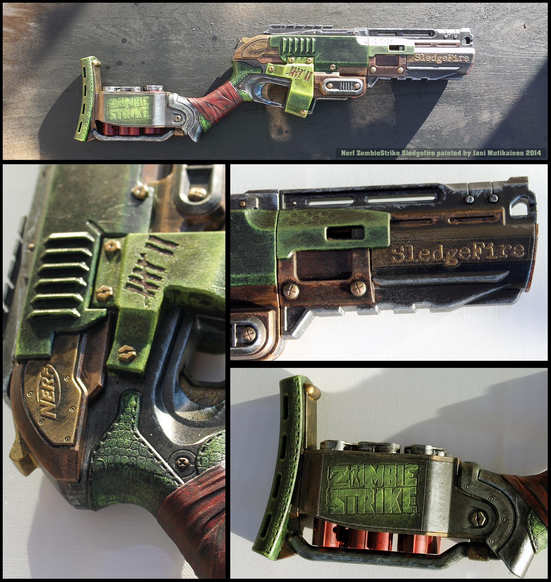 hoellenhamster 9 5 Nerf ZombieStrike Sledgefire paintjob 001 by janimutikainen