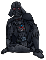 Darth Vader chilling by janimutikainen