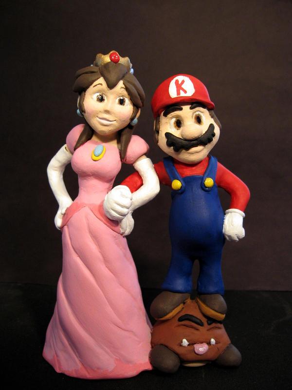 Mario And Peach Cake Topper By Eggyyockio On DeviantArt