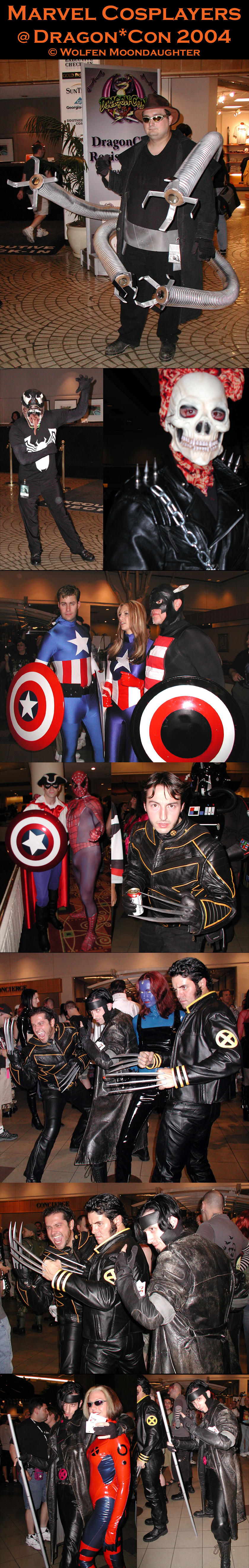 DragonCon 2004: Marvel Cosplay by CanisCamera