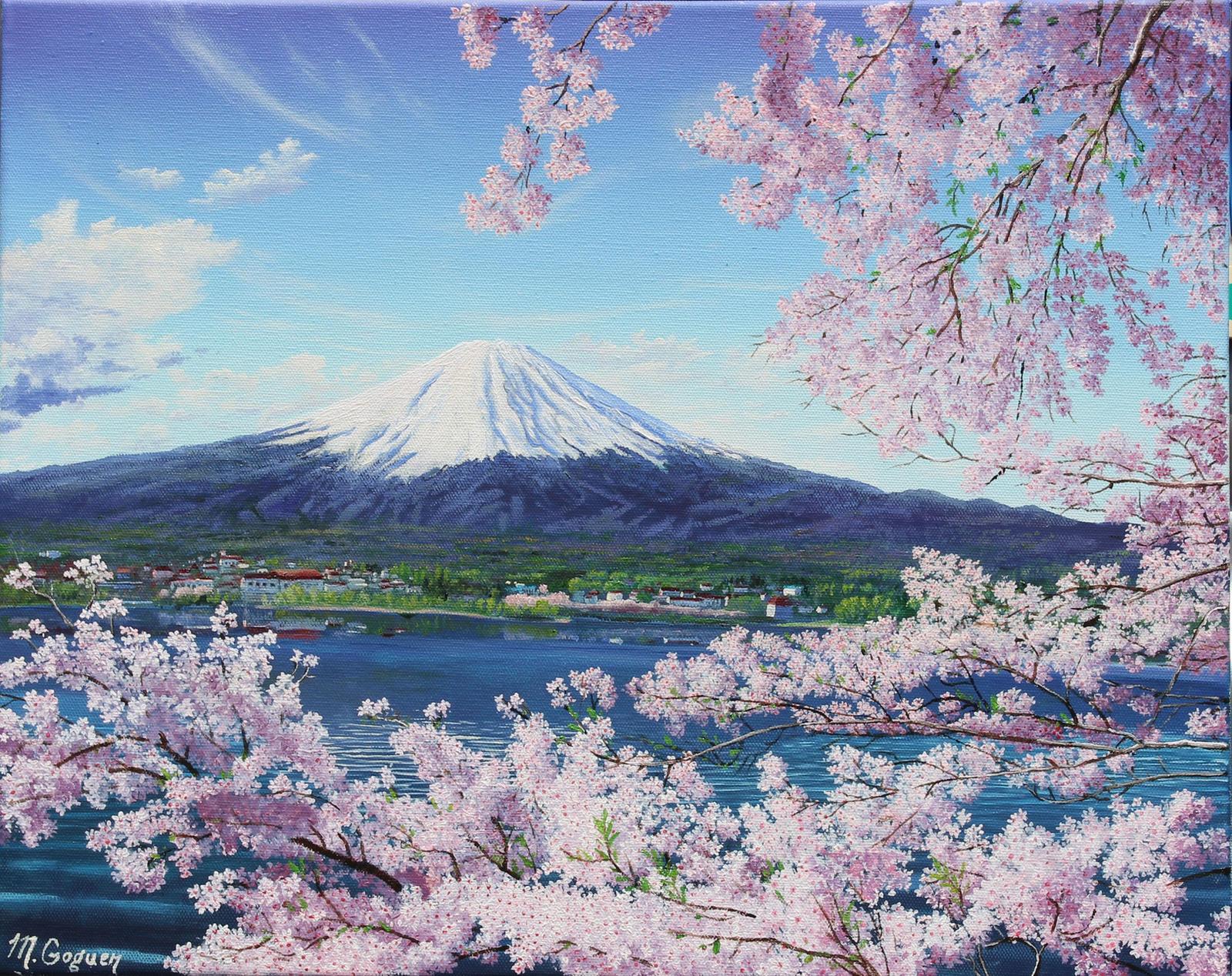 Japanese Cherry Blossom Birthday Cake