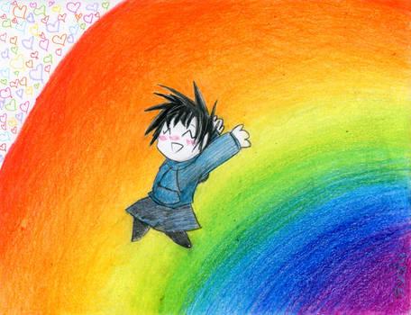 a rainbow makes me SUPER DUPER HAPPY!!!