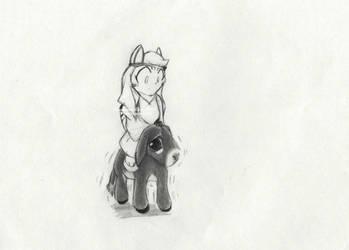 Balaam and Donkey by Randamu-Chan
