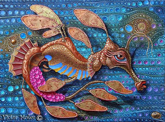 Leafy seadragon by VictorMolev