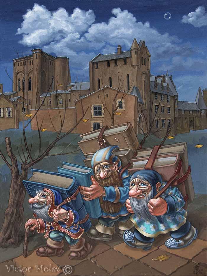 Book-bearers by VictorMolev