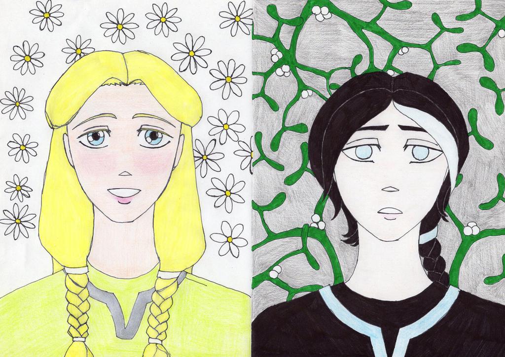 Baldur and Hodur by ladyblackbird13