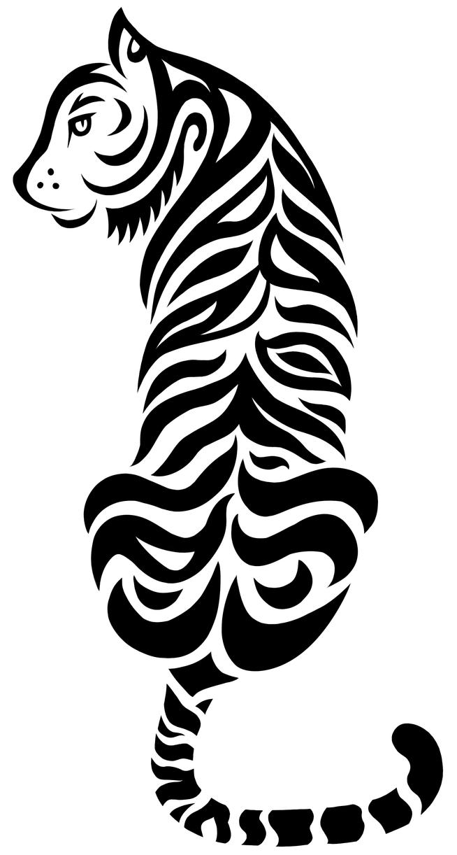 My tribal tiger tattoo by mtbrainz xd on deviantart for Tribal tattoo shops near me