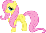 Vector of my 'First Try' Fluttershy