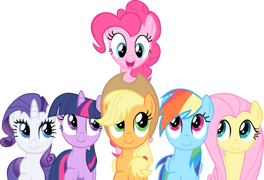 smile_song_mane_6_vector_by_exe2001-d4r1