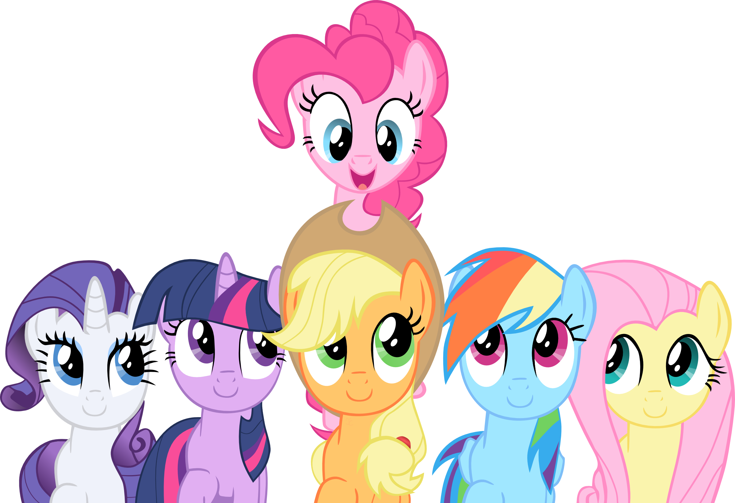 Smile Song Mane 6 Vector By Exe2001 On DeviantArt