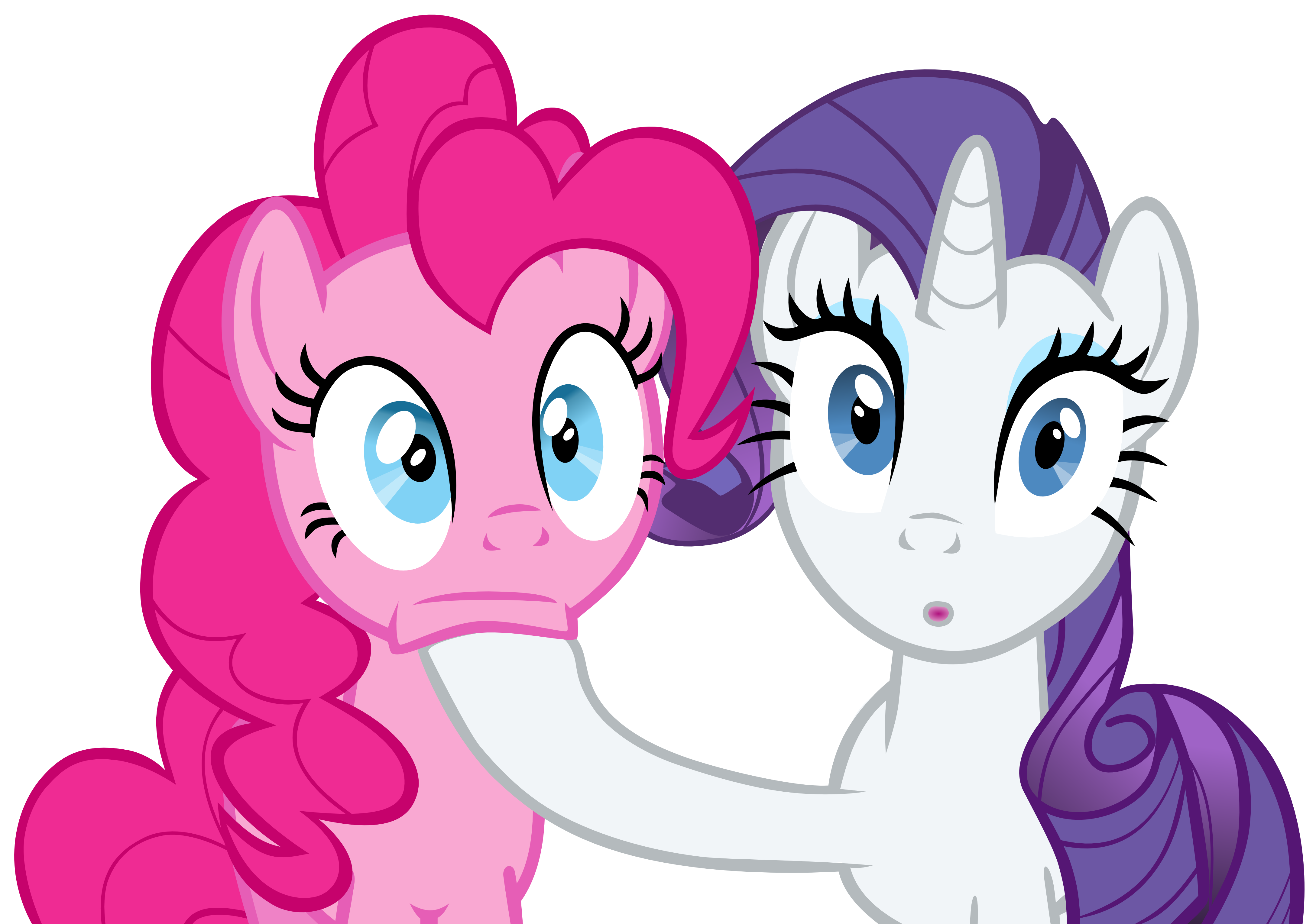 Pinkie Pie and Rarity stunned by exe2001
