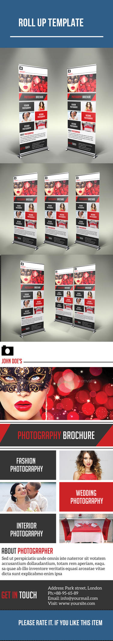 Photography roll up design by DGTouch