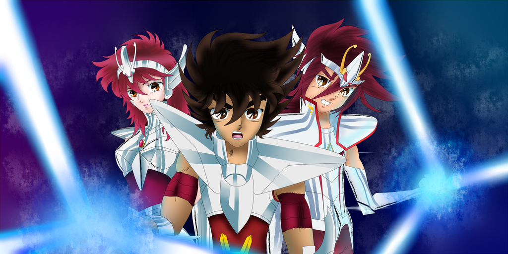 Seiya, Sho and Kouga by VenomDesenhos