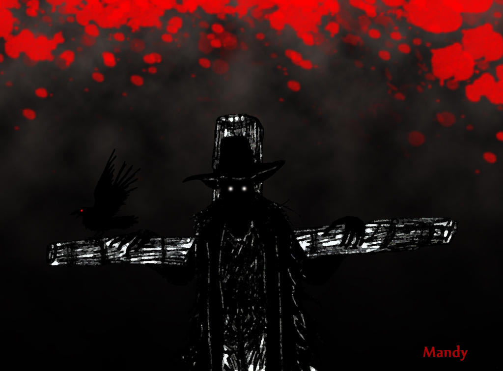 Bloody Scarecrow by waningmoon7