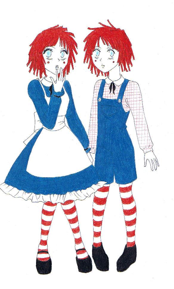 raggedy ann and raggedy andy by ichigo pocky aki - Raggedy Ann And Andy