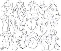 Anatomy female study 4418 by lokigun