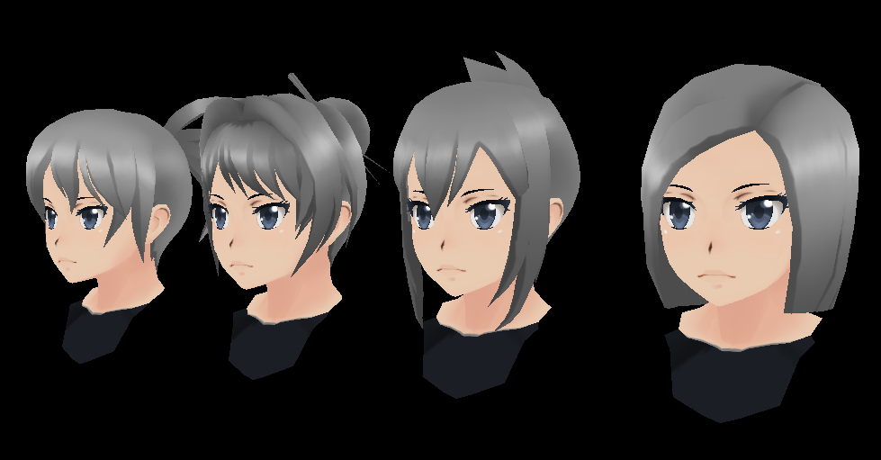 Delinquents Simulator also Ive Made 5 Hairstyles For Yandere Simulator