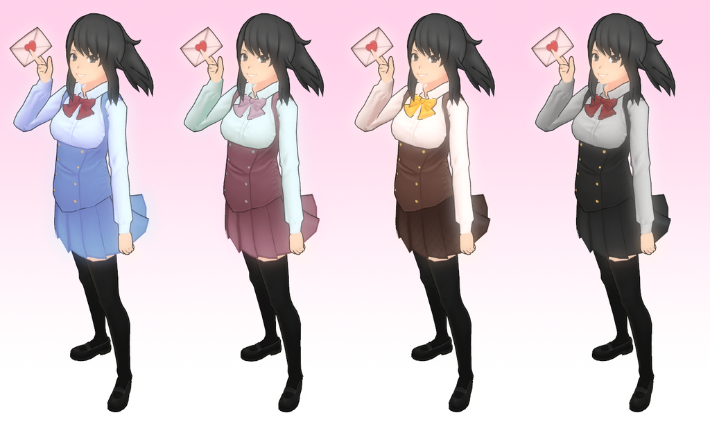 Yandere Simulator Uniform Variants by Druelbozo on DeviantArt