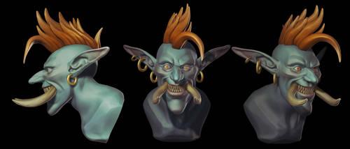 WarCraft: Troll Speed sculpt by Druelbozo
