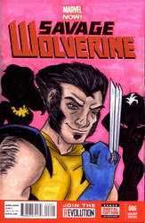 Hey, Bub - Savage Wolverine Sketch Cover