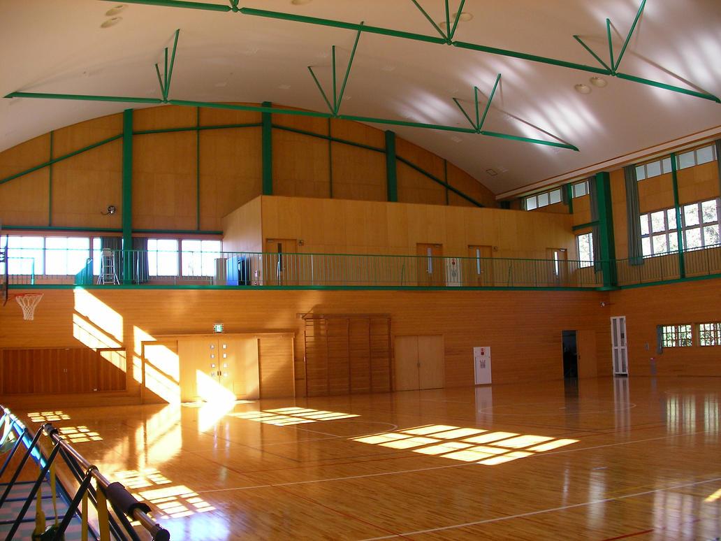 Japanese school gym-9707