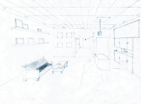 One Point Perspective (Room Layout)