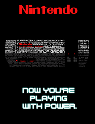 A Blast From The Past - NES Typography Poster
