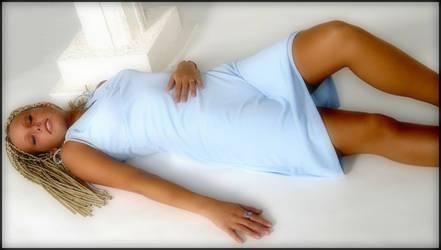 Sharilyn Blue Dress  ii by StudioAdVentures