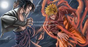 Sasuke vs Naruto - final fight