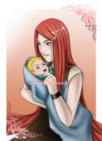 SPOILER: Kushina and Naruto by Arya-Aiedail