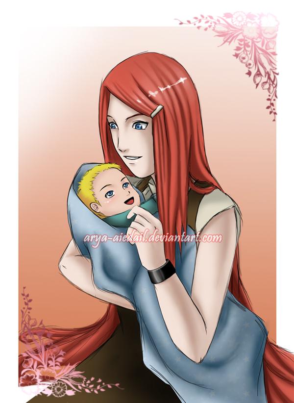 SPOILER__Kushina_and_Naruto_by_Arya_Aiedail