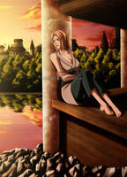 Tsunade - Sad memories by Arya-Aiedail
